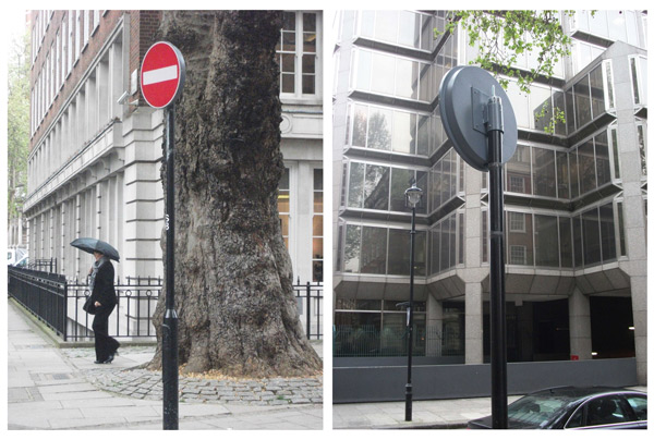 A One2See sign, combined with LeafNut technology, installed in Westminster