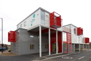SES offices constructed from reclaimed freight containers
