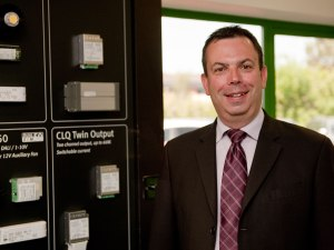 Andy Davies, the new business development manager for indoor controls at Harvard Engineering