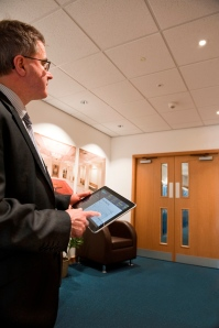 EyeNut's intuitive Graphic User Interface (GUI) can be accessed via tablet