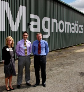 Carly Stratford, Sheffield City Region LEP, Cllr Leigh Bramall, Chris Kirby, Magnomatics