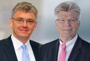 Maximilian Brandl, chairman of the Executive Board of Eplan and Friedhelm Loh, owner and CEO of the Friedhelm Loh Group.
