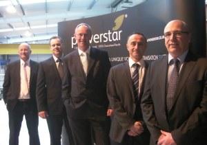 From the left: Stuart Clegg, Robert Macklin, Stephen Hepplewhite, Dr Alex Mardapittas and David Taylor