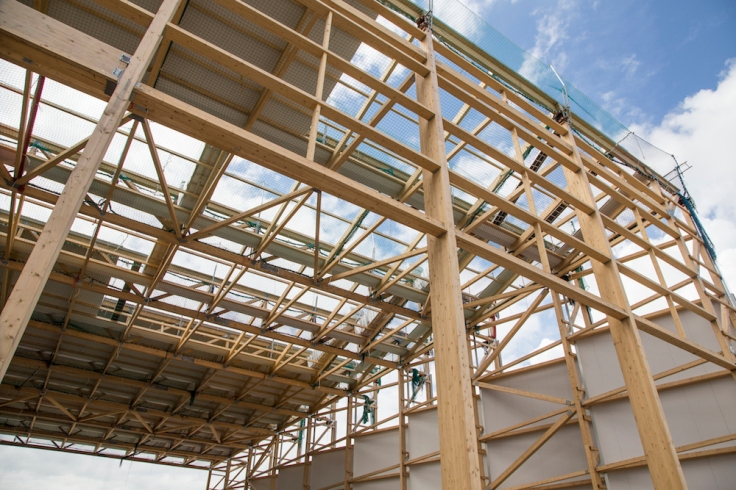 Timber Frame on site at the Leeds RERF