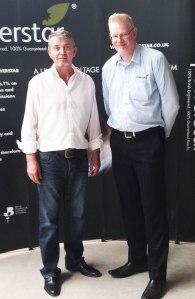 Gerry Corrigan (left) with Jim Tonks, Powerstar product development engineer.