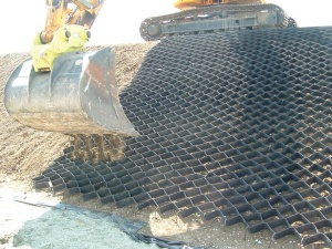 TERRAM GEOCELL is installed on the M25 to prevent erosion