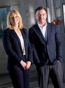 Jane Dawson, former managing director, with Lee Nicholson.