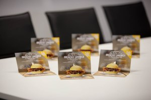Drive Medical is offering visitors to its stand a free breakfast sandwich