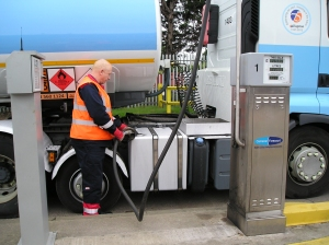 Fuel island located at Clugston Distribution's headquarters in Scunthorpe