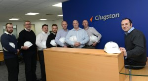 Some of the Clugston West Midlands team. From right to left: Matt Howe, Paul Plumstead, Paul Ryan, Stuart Wilkes, Kieran Danby, Tony Plumbridge, Andrew Hanks and Danny Dawson.