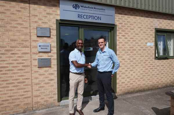 Herbie Simpson (left), pictured here with sales director Robert Lomax, has been appointed as southern sales manager at Wakefield Acoustics